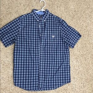 Chaps brand short sleeve button down